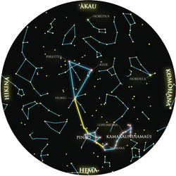 Summer triangle, deneb, altair, aquila, astronomy, Hawaii, constellations, summer, asterism, Jack Johnson, Waikiki shell, Vega, Cygnus, Huinakolu, Navigatorʻs triangle, constellations, Hawaii, third star line, Manaiakalani, Piraʻetea, Keoe, Humu, PVS, Hokuleʻa, navigation,